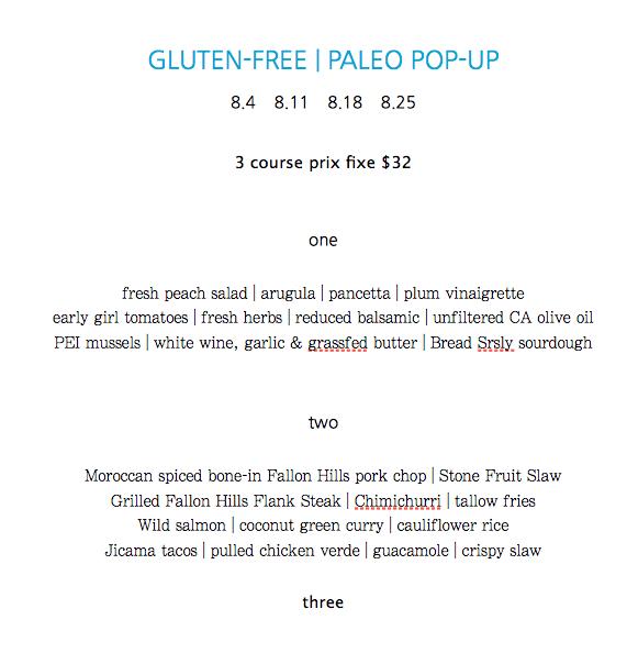 Gluten-Free & Paleo Pop-Ups