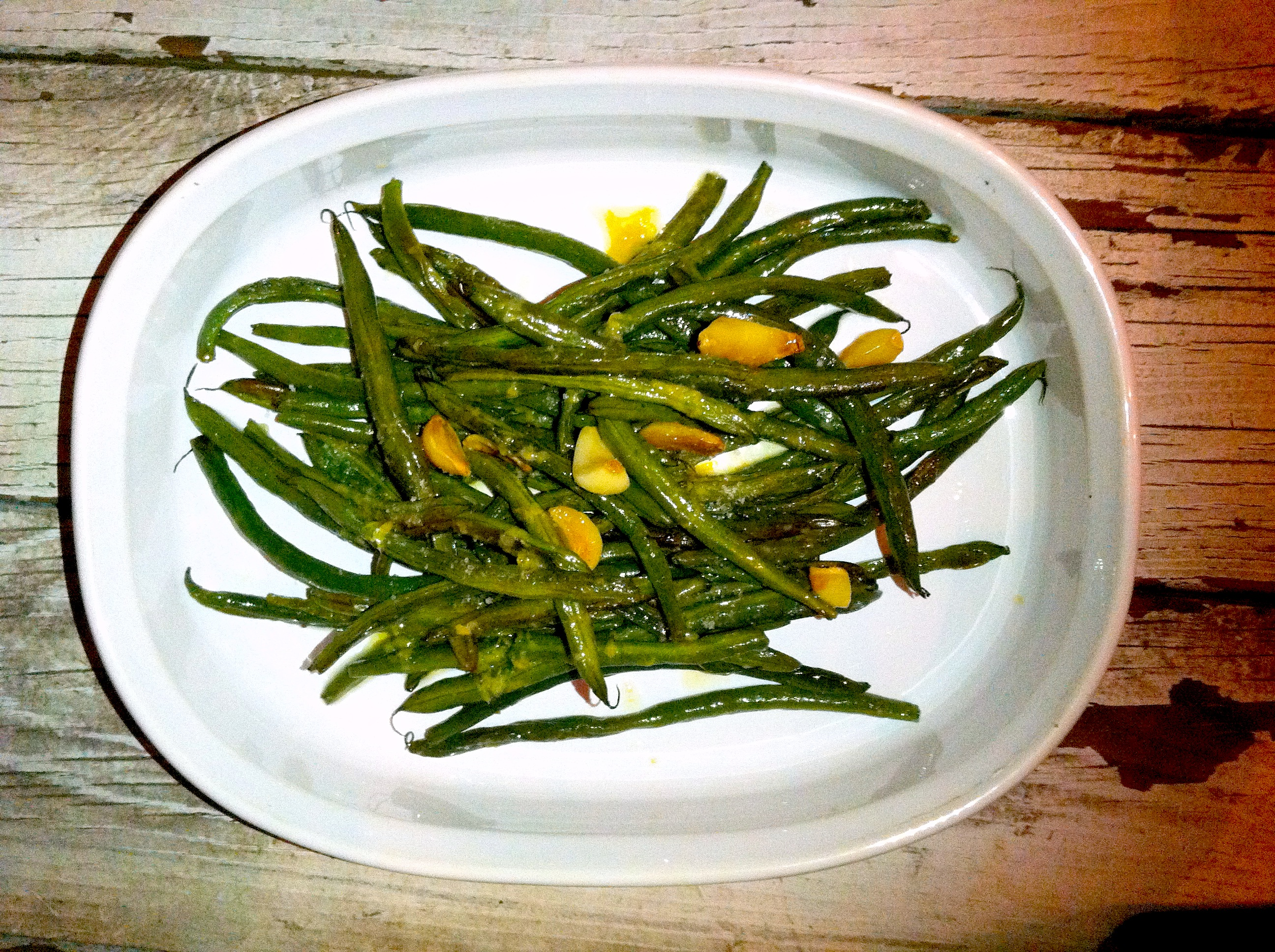 Roasted Green Beans, 2 ways