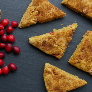 Pumpkin & Fresh Cranberry Scones