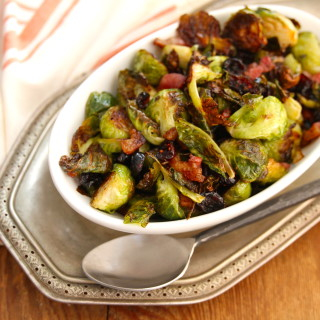 Roasted Brussels with Pancetta and Cranberries