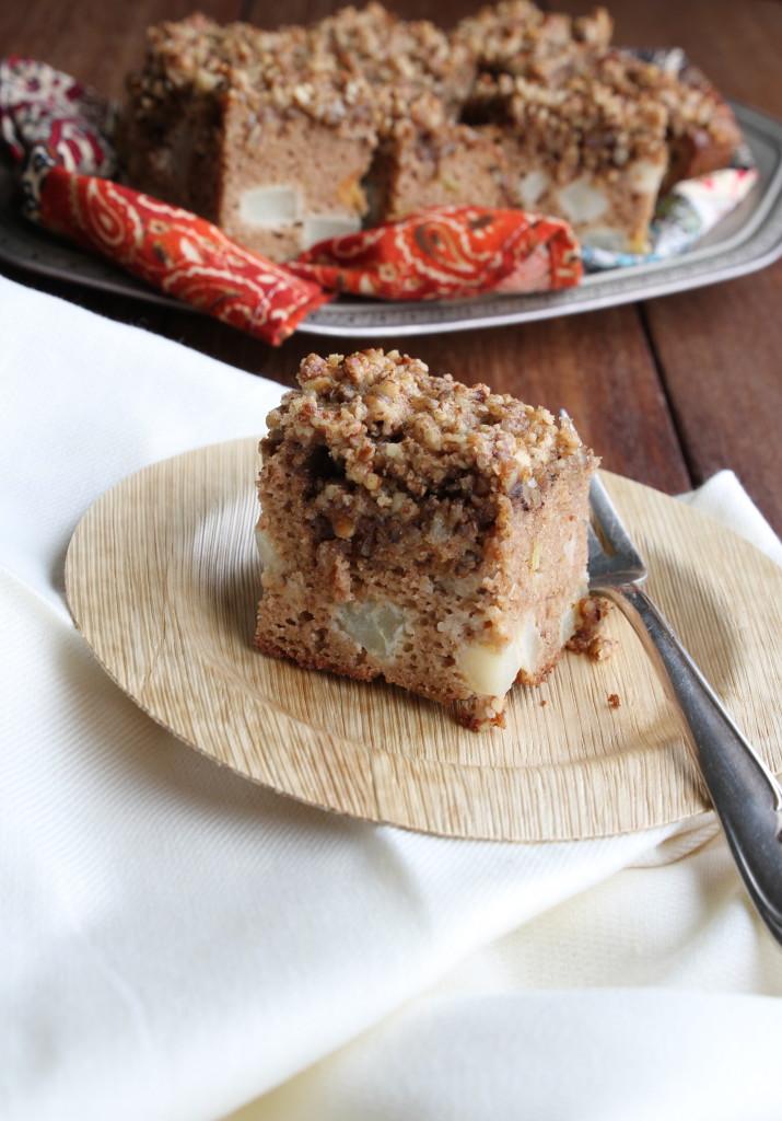 pear pecan coffee cake