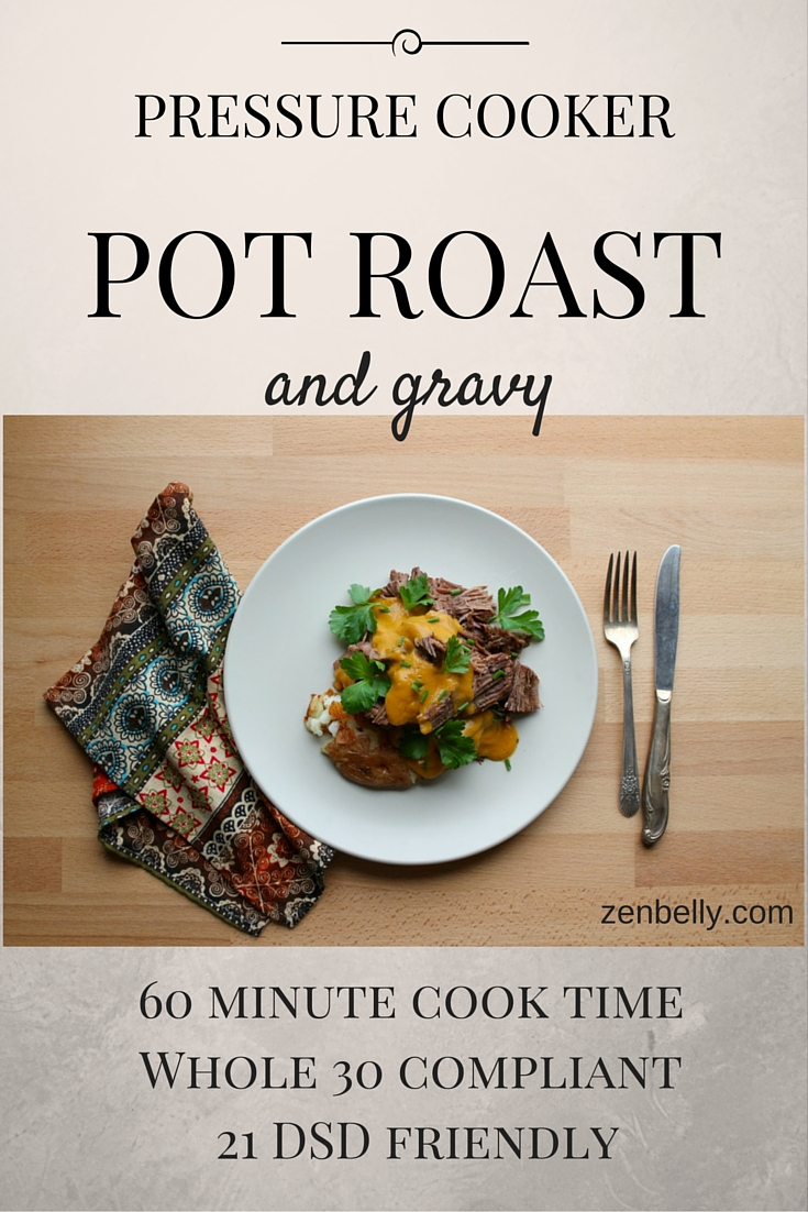 pressure cooker pot roast and gravy