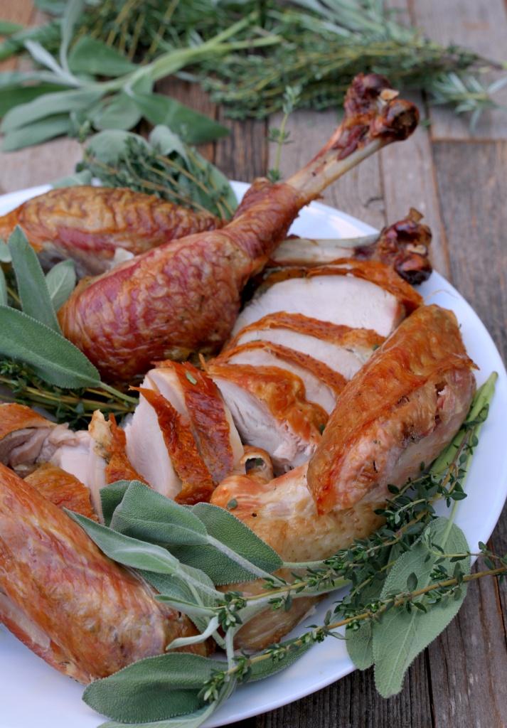 fresh herb dry brined turkey