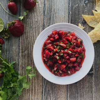 summertime strawberry salsa