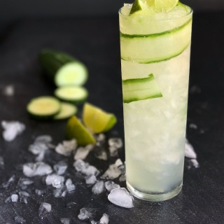 cucumber elderflower gin & tonic