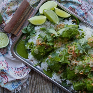 green coconut salmon