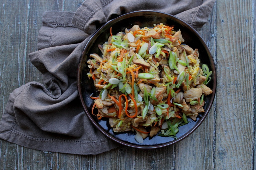 gingery-chicken-cabbage-shiitake