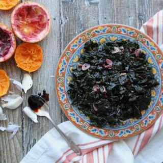 Sautéed Kale with Orange and Garlic