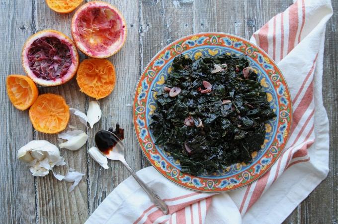 sauteed kale with orange and garlic